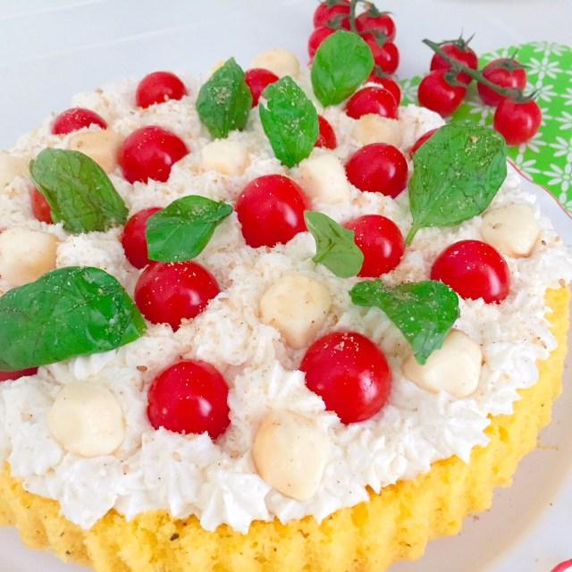 Crostata furba salata spuma di ricotta e pomodorini_provolette