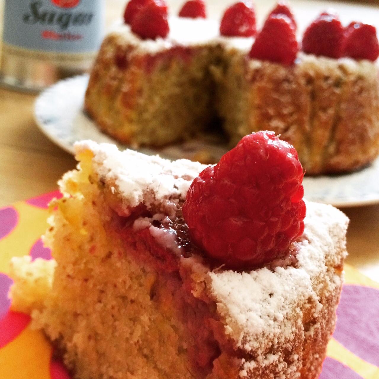 Torta pistacchi e lamponi_fetta
