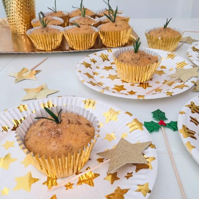 Muffin con farina di mais, lenticchie e rosmarino