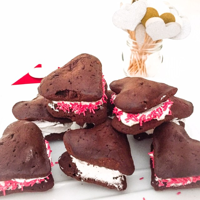 Whoopie pies con panna
