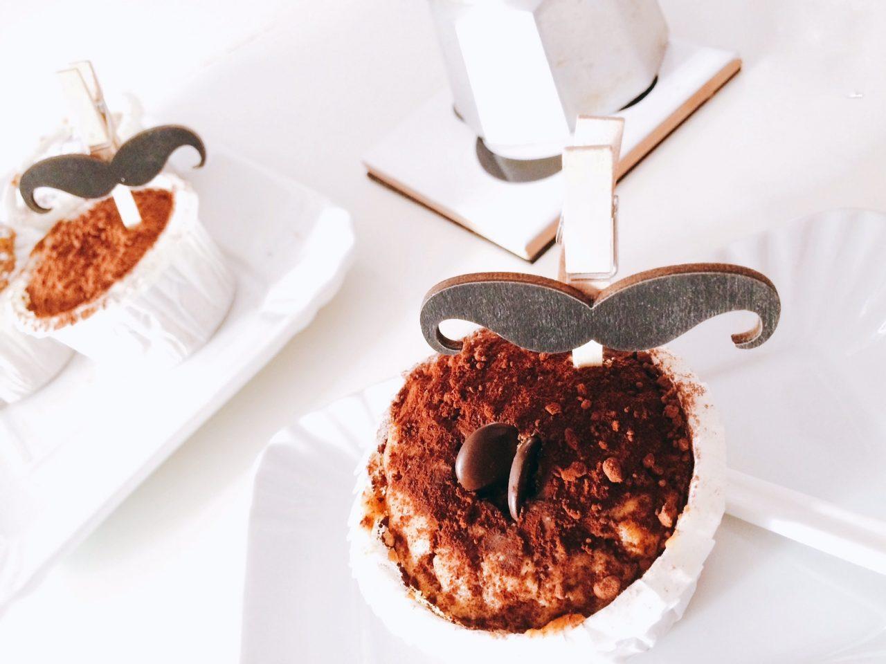 Muffin al caffè in primo piano