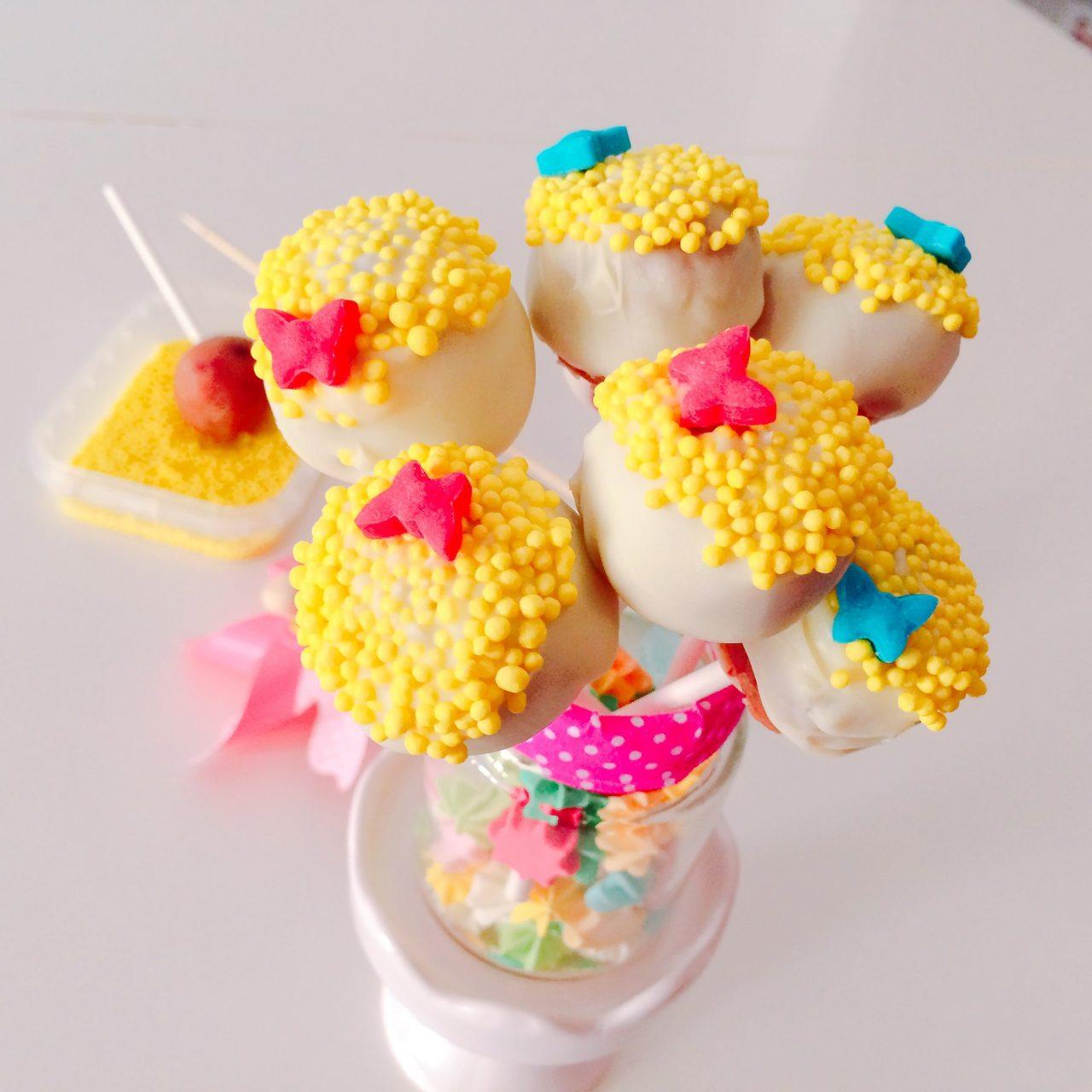 Cake pops floreali