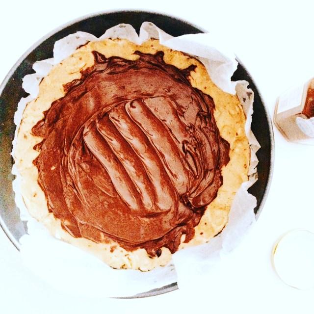 torta-coolie e smarties-in-preparazione