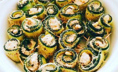 Involtini di zucchine al gratin al tonno e formaggio