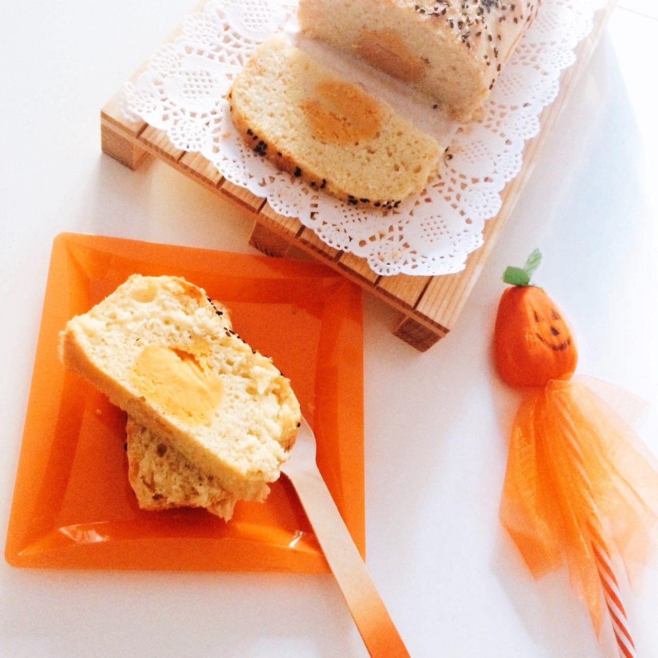 Plumcake cacio&pepe e zucca al centro