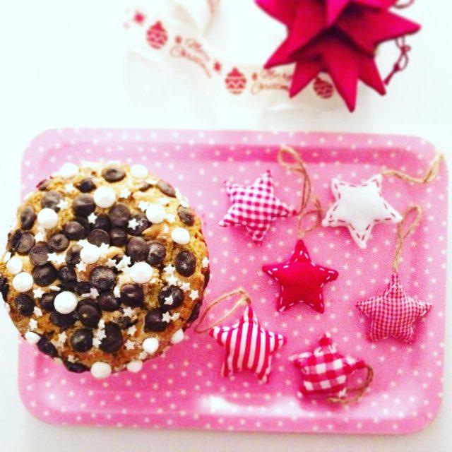 Mega Muffin al cioccolato visto dall'alto