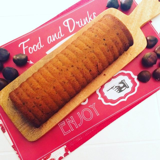 Plumcake con farina di castagne, cioccolato e frutta secca senza zucchero a velo