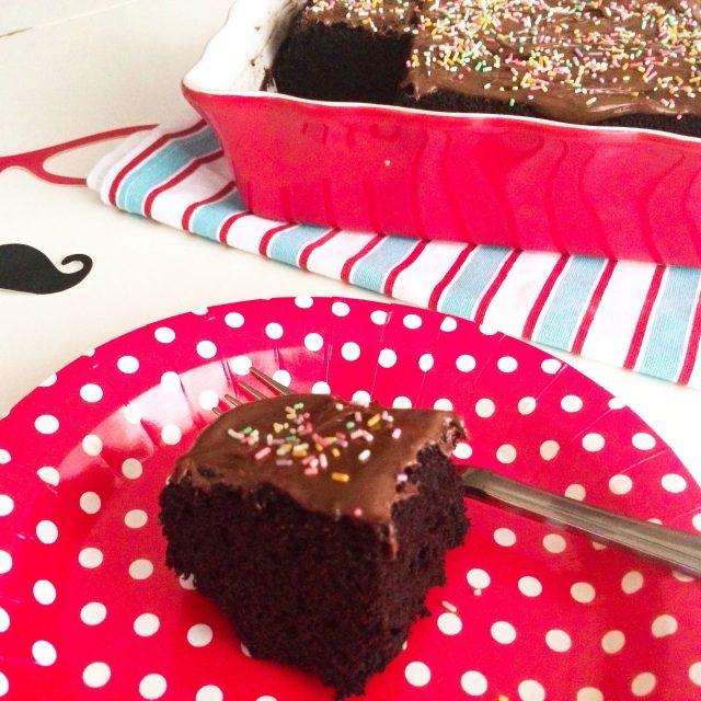 Crazy cake_fetta in primo piano