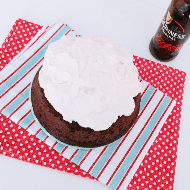 GUINNESS CAKE AL PROFUMO DI CAFFÈ dall'alto