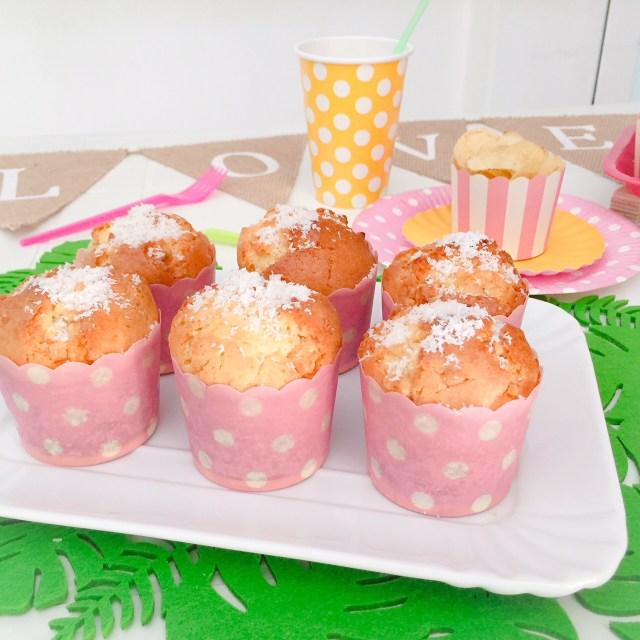 Muffin al cioccolato bianco e cocco