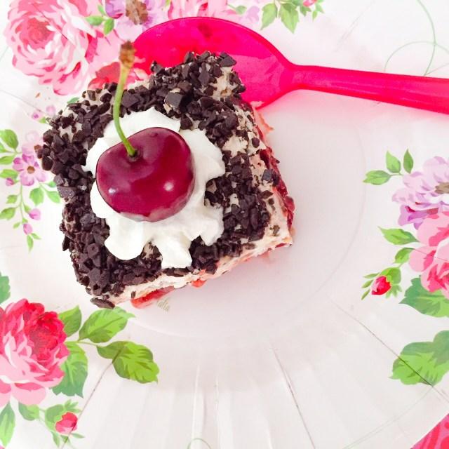 Torta foresta nera di biscotti_fetta