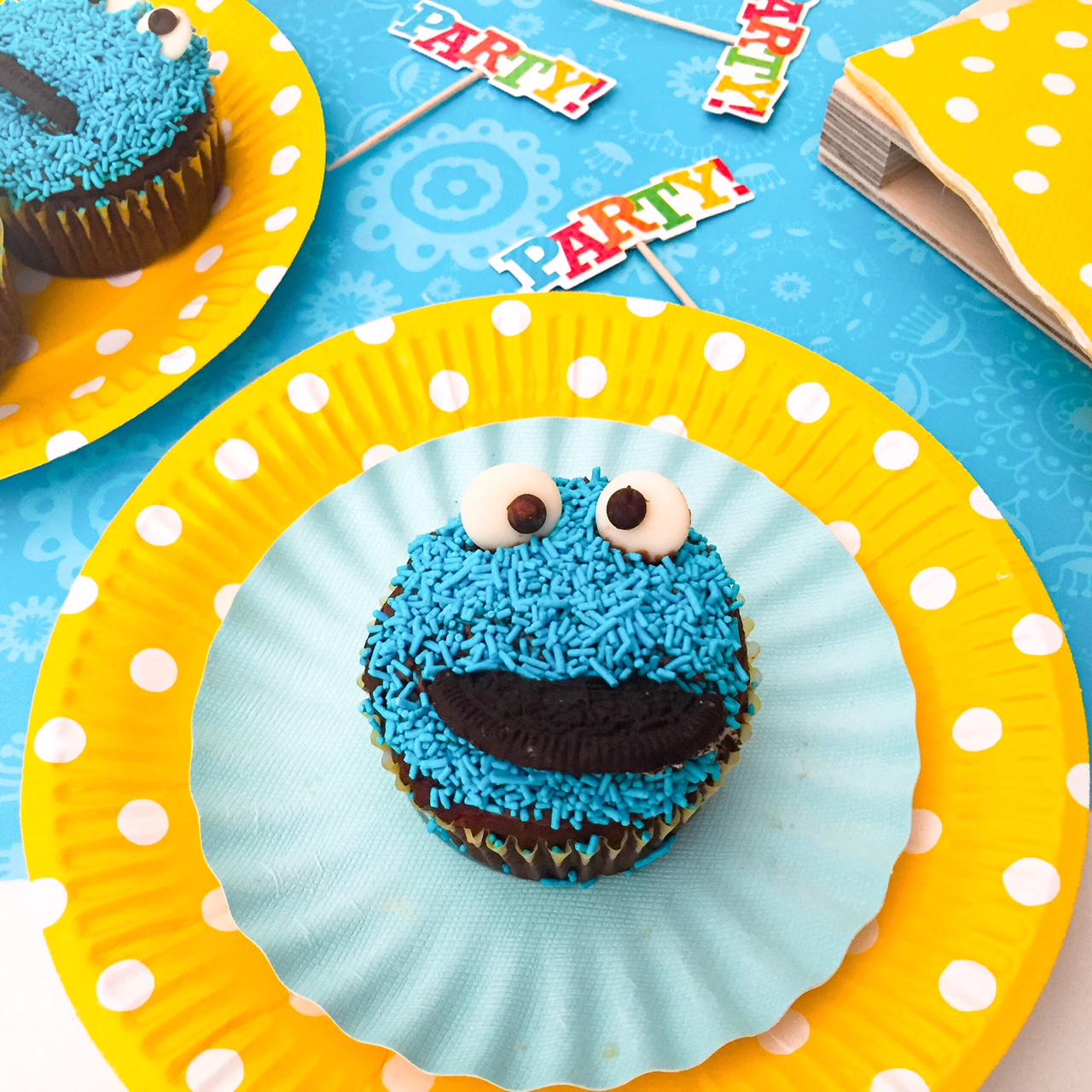 Cookie Monster cupacke singolo