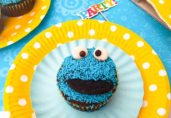 Cookie Monster cupacke singolo