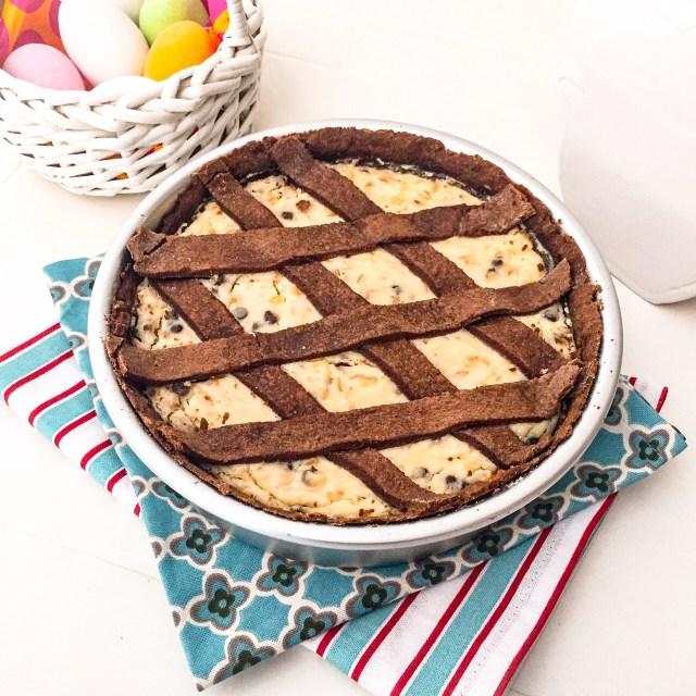 Pastiera al cioccolato cotta