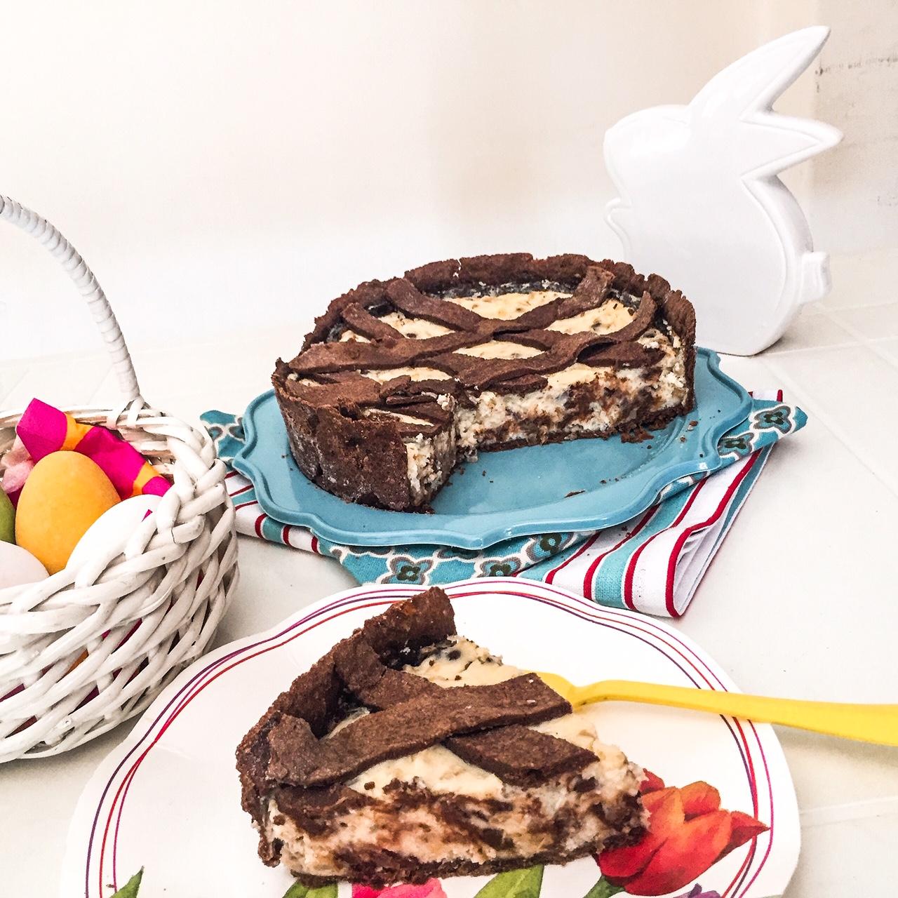 Pastiera al cioccolato_fetta