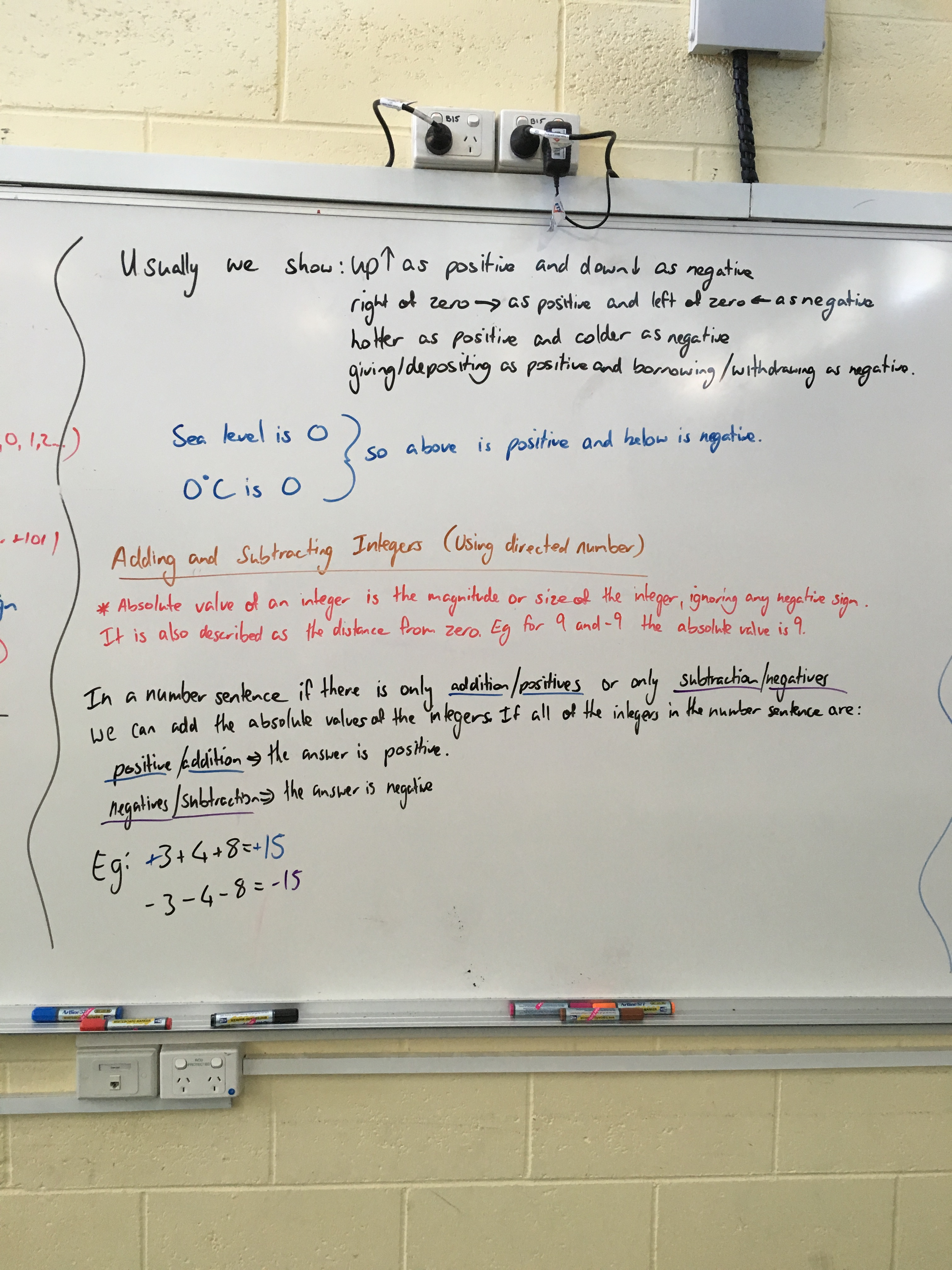Integers On A Number Line And Adding Subtracting Multiplying Amp Dividing