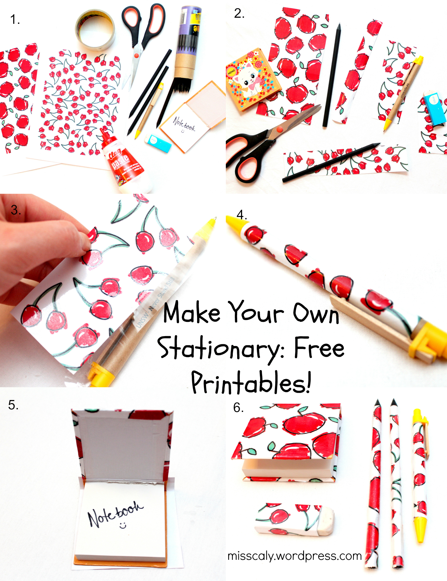 Make Your Own Cute Stationery Free Printables And Diy