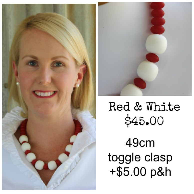 Red & White Necklace Matte