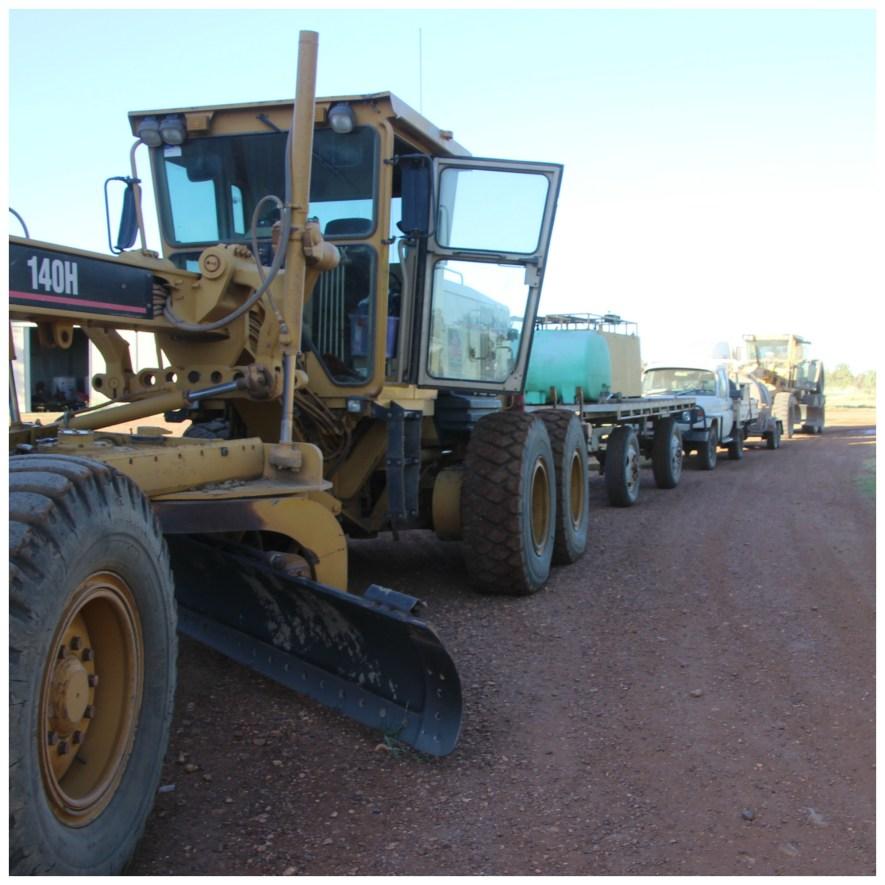 Grader convoy