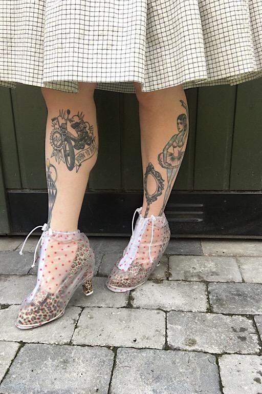 Regncovertil høje hæle