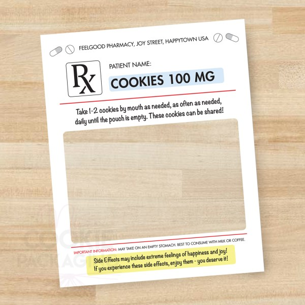 Rx Nurse Appreciation Cookie Pouches