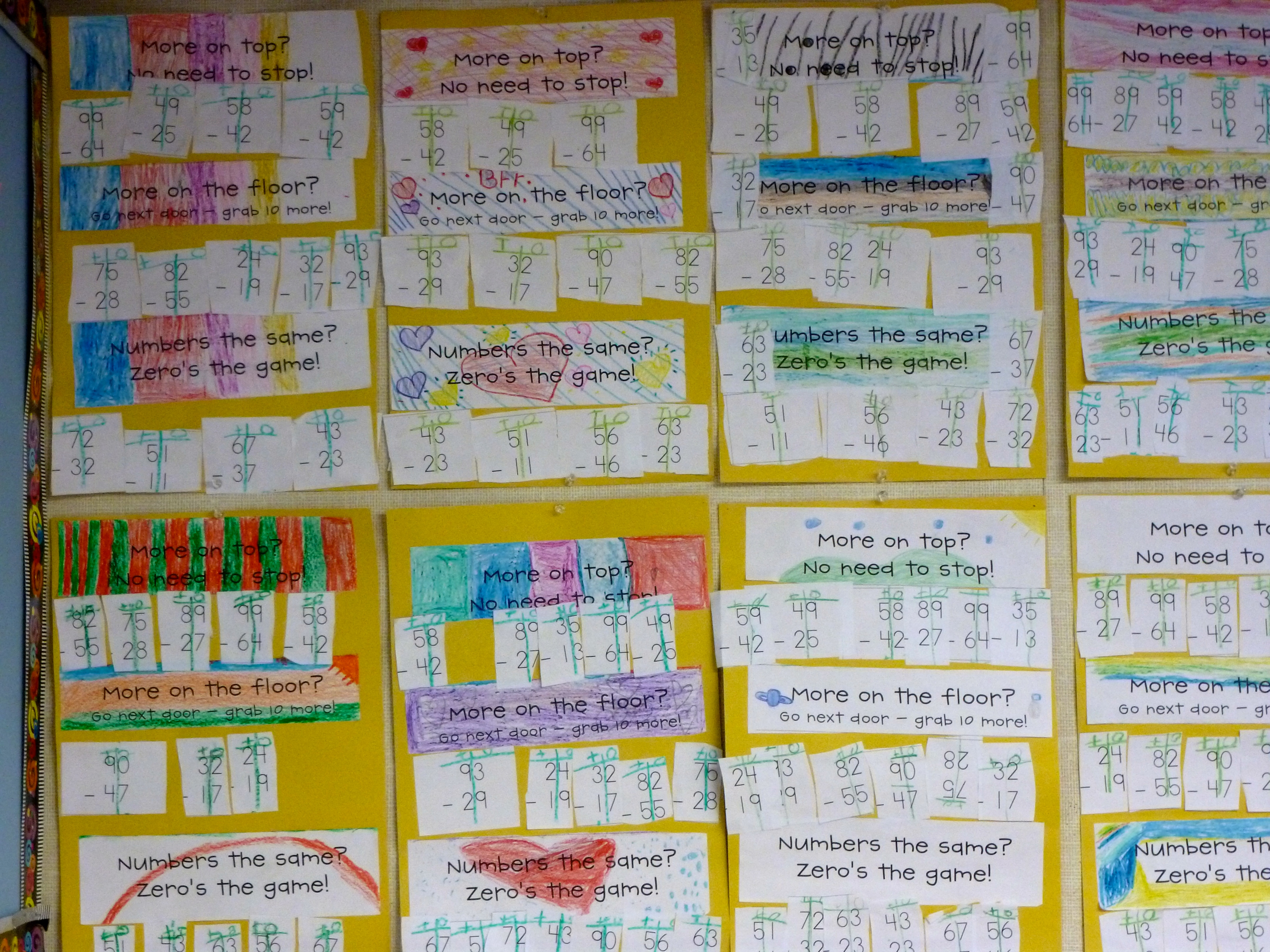 Double Digit Subtraction A Rhyme And Sorting Activity