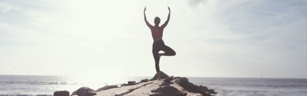 Sport de plage yoga