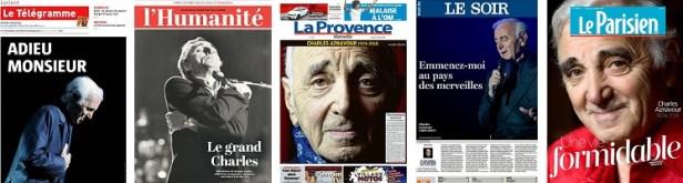 Revue de presse Aznavour