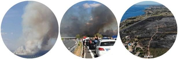 Incendie Bassin de Thau