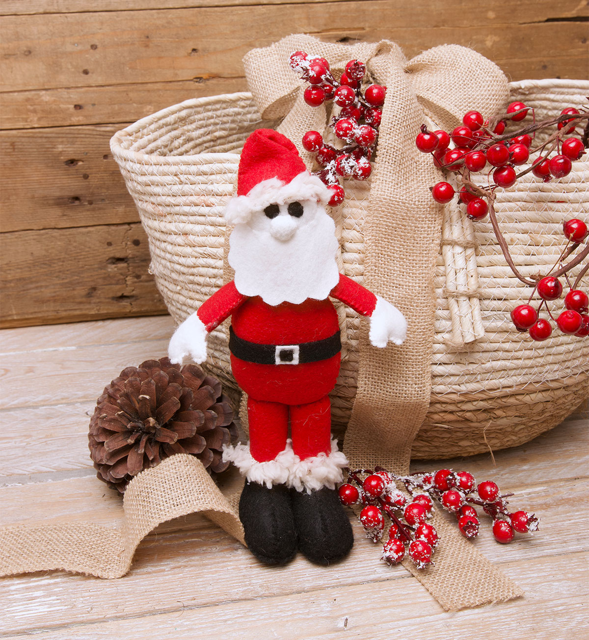 Felt Santa Softie - Free Sewing Pattern