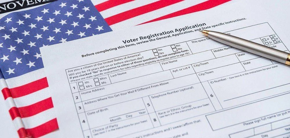 Register to vote with paper
