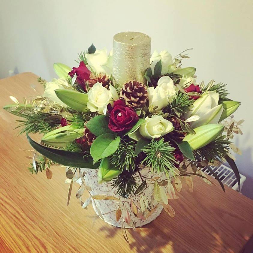 Christmas Pot Arrangement