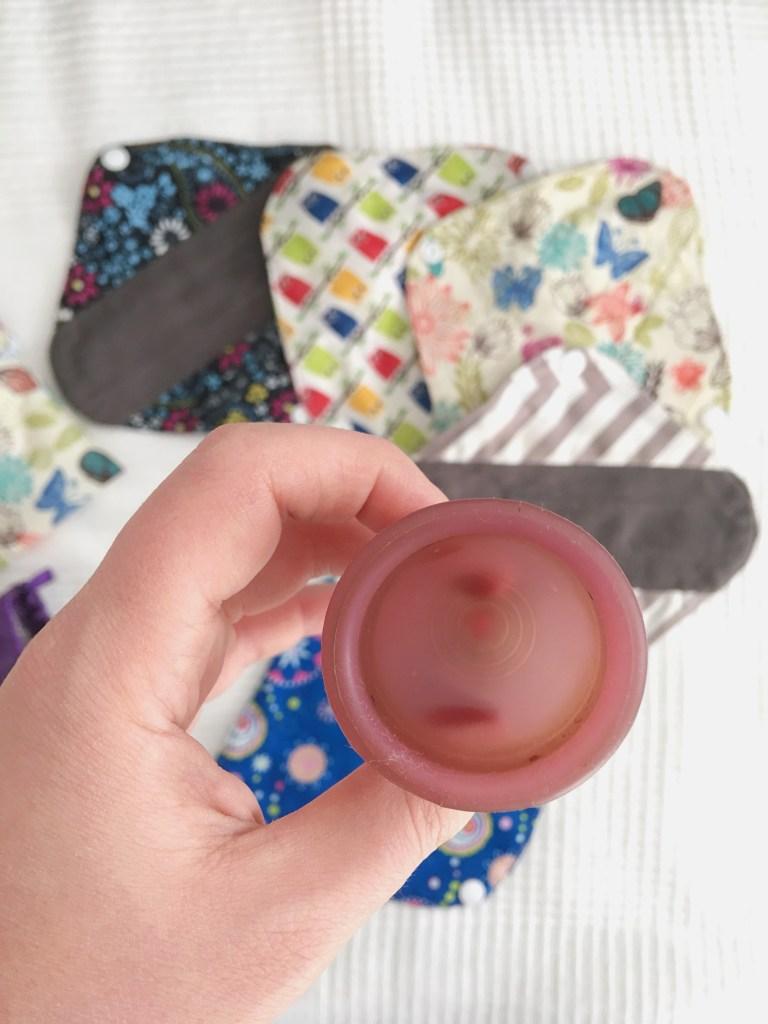 La copa menstrual y las compresas de tela