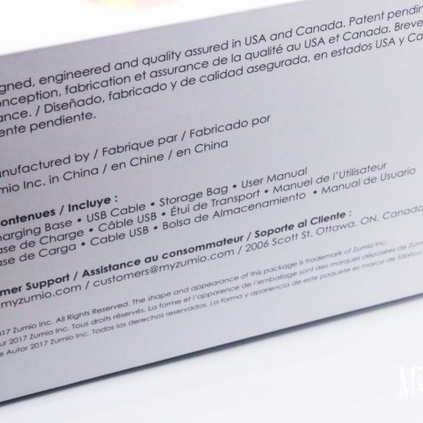 Picture of the outer sleeve instructions on the box.