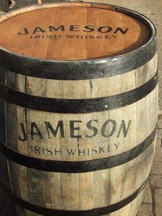 These Jameson whiskey barrels are an excellent alternative to pod tables!