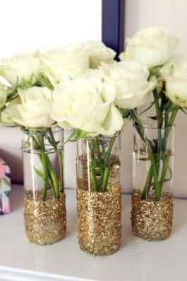 Golden flower vase!