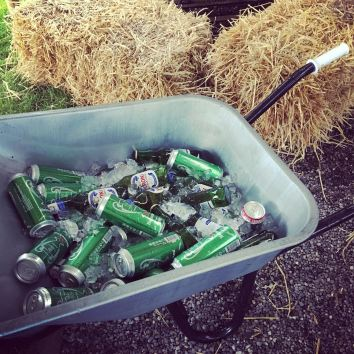 Wheelbarrow Beer Bath