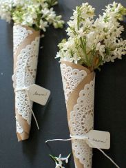 Brown paper and lace