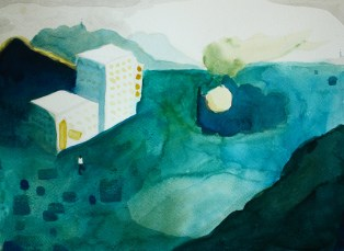 Green Hill (no.1), 2016, 22 x 30 cm, Watercolor on paper
