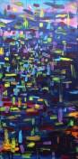 Rhythm Attack 50cm x100cm Acrylic on canvas