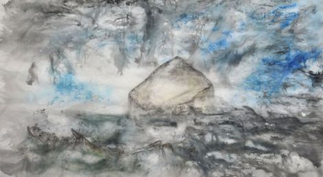 The Bass Rock 2015 Ink on paper 70 x 116 cm