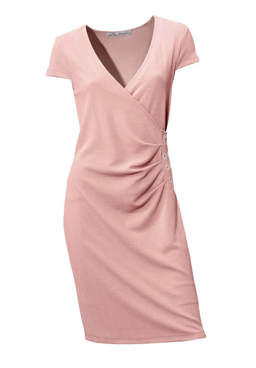 003.086 ASHLEY BROOKE Damen Designer-Bodyforming-Etuikleid Rose