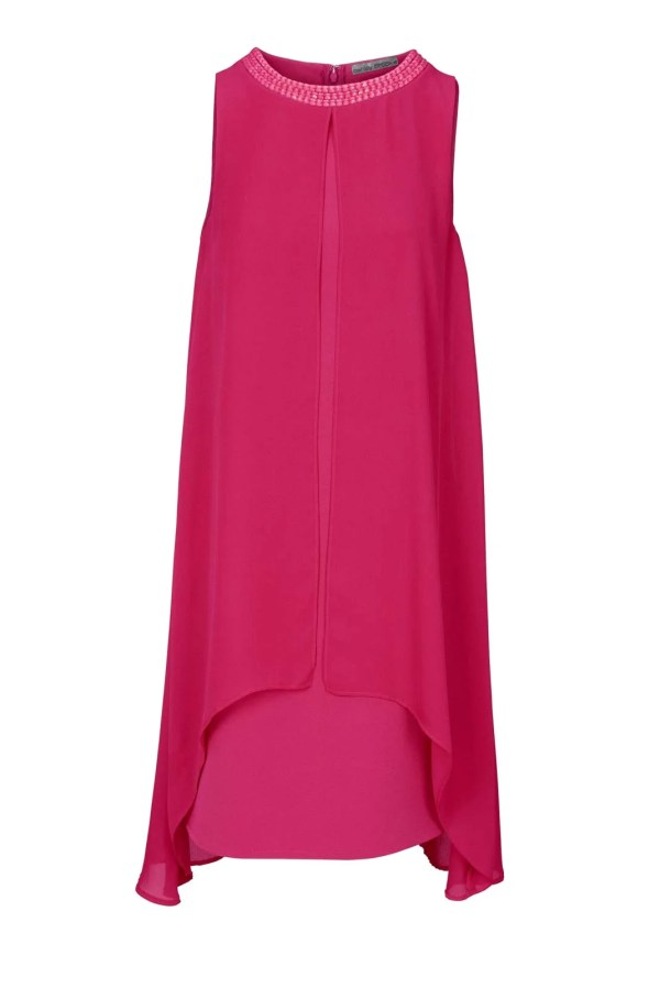 004.767a ASHLEY BROOKE Damen Designer-Cocktailkleid Pink