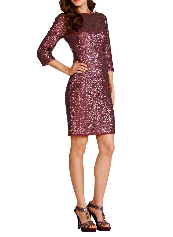 036.737 APART Damen Designer-Paillettenkleid Bordeaux