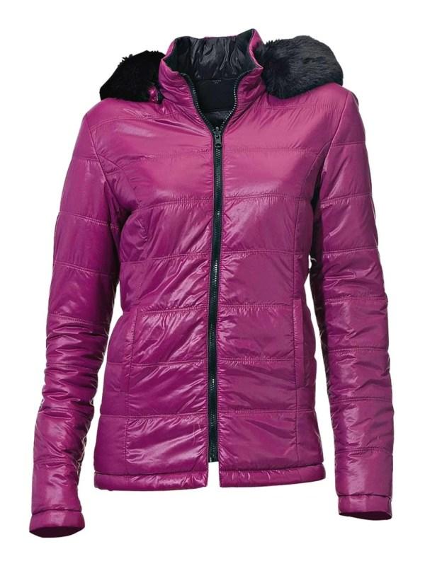 070.412 Rick Cardona Designer Damen-Wende-Steppjacke Jacke Gesteppt pink-schwarz