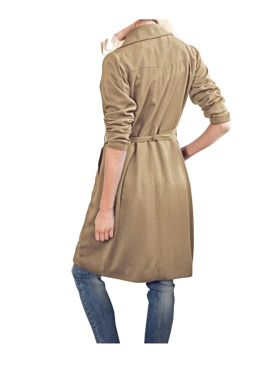 155.677 HEINE Dame Designer-Trenchcoat Beige Camel