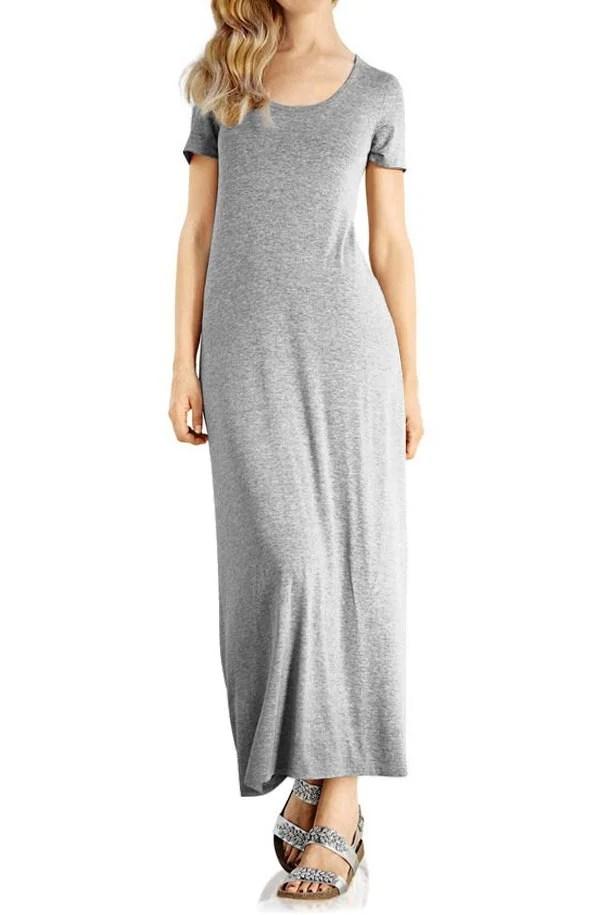 170.632 RICK CARDONA Damen Designer-Maxikleid Grau