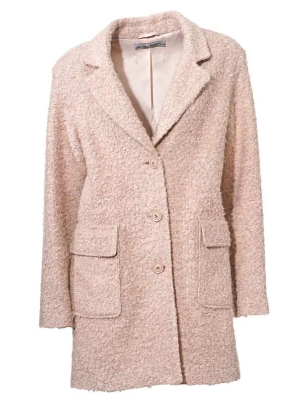 180.272 Ashley Brooke Damen-Kurzmantel Mantel Hellrosa Bouclé-Flauschmantel rosé Rosa