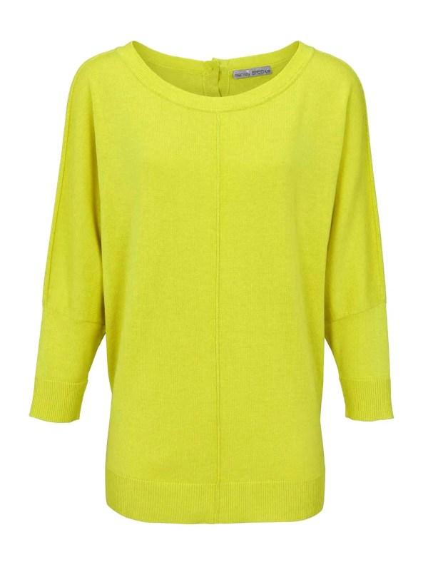 370.499 ASHLEY BROOKE Damen Designer-Oversizedpullover Limette