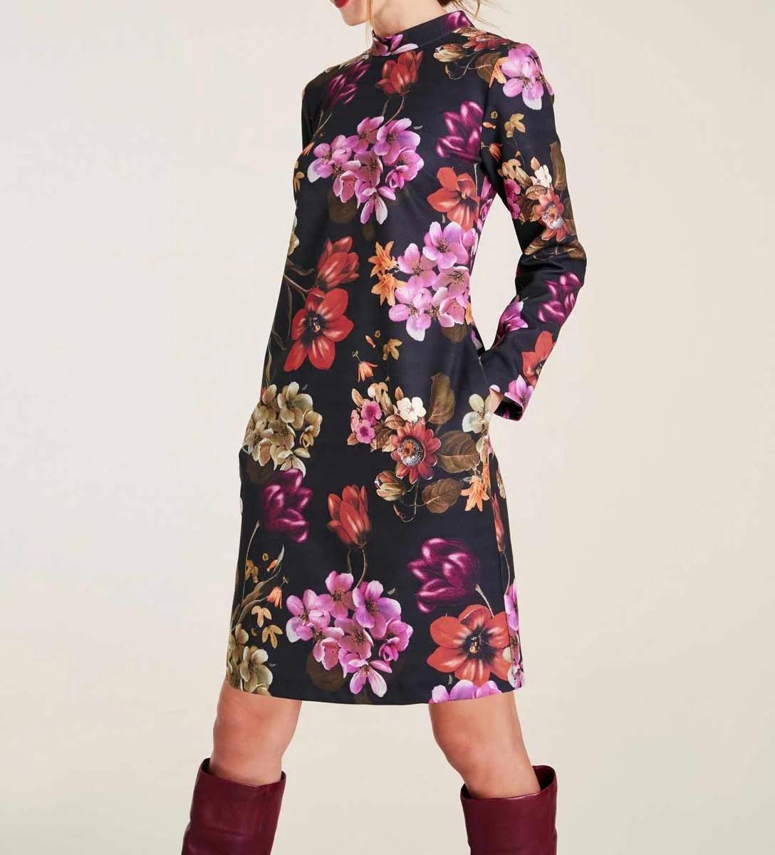 375.336 HEINE Damen Designer-Jerseykleid Bunt